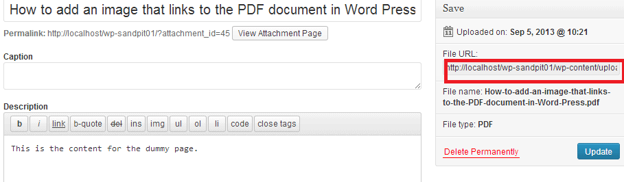 Adding cover image to PDF documents in WP 05