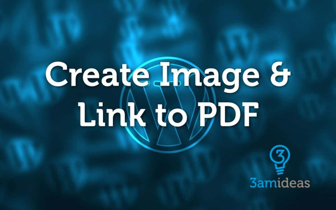 How to add an image that links to the PDF document in WordPress?