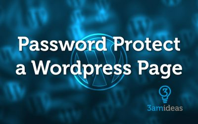 How To Password Protect a Page in WordPress